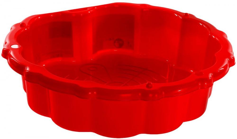 Cutie de nisip cu protectie Basic Red