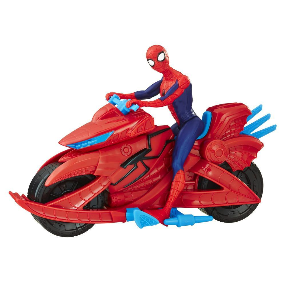 Figurina Marvel Spider-Man with Cycle Hasbro