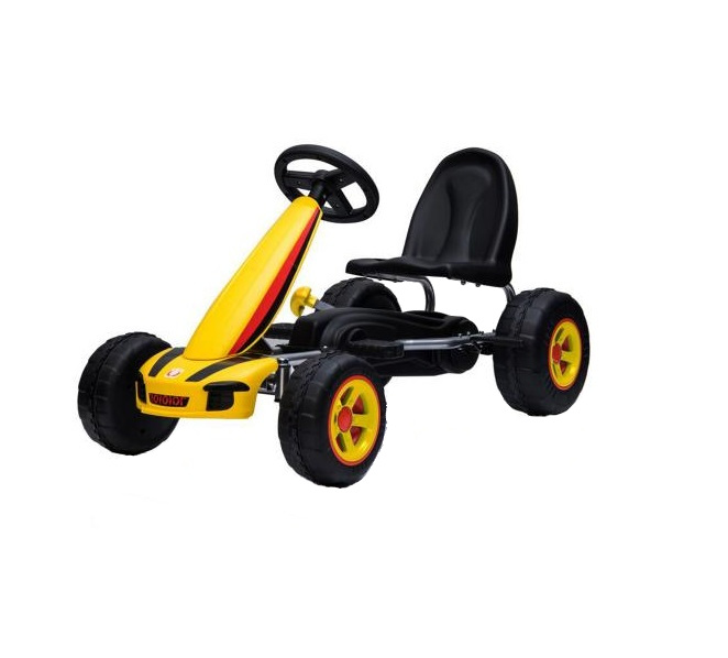 Kart Cu Pedale Go Kart Fever Yellow