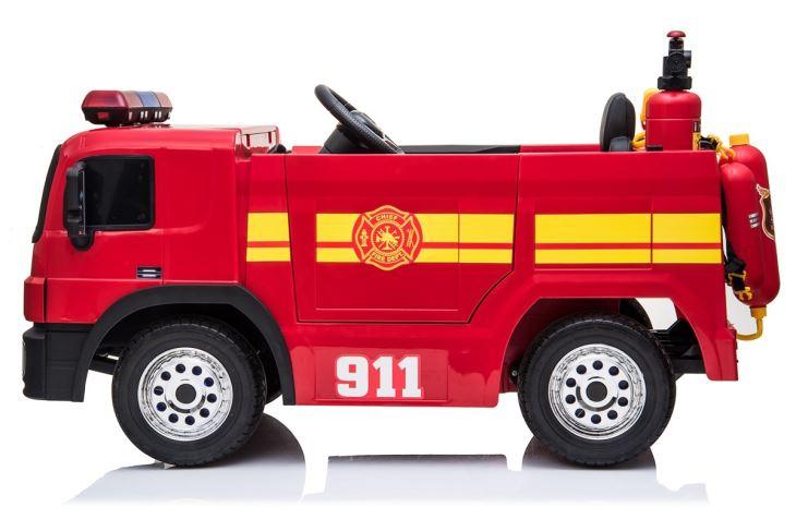 Masinuta electrica de pompieri Fire Truck Red imagine