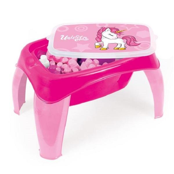 Masuta cu 42 cuburi roz Unicorn Dolu