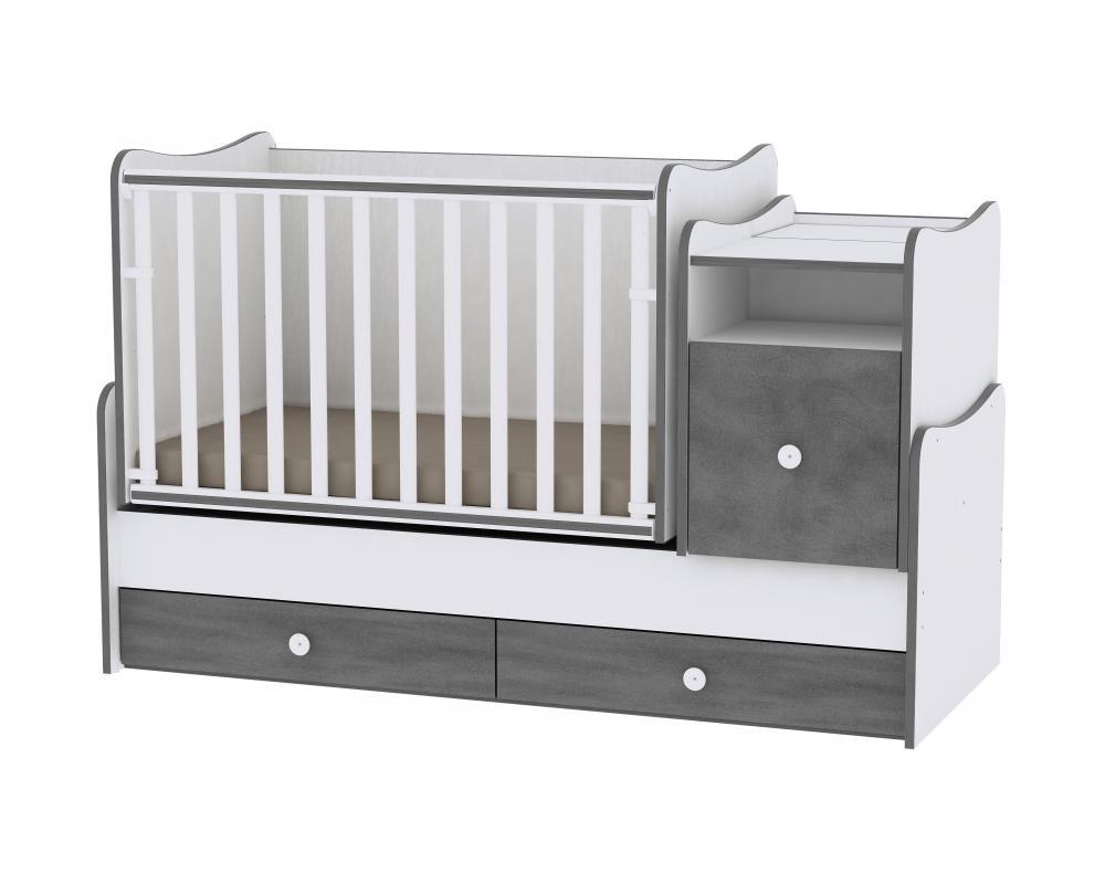Mobilier transformabil Trend Plus White Vintage Grey din categoria Camera copilului de la LORELLI