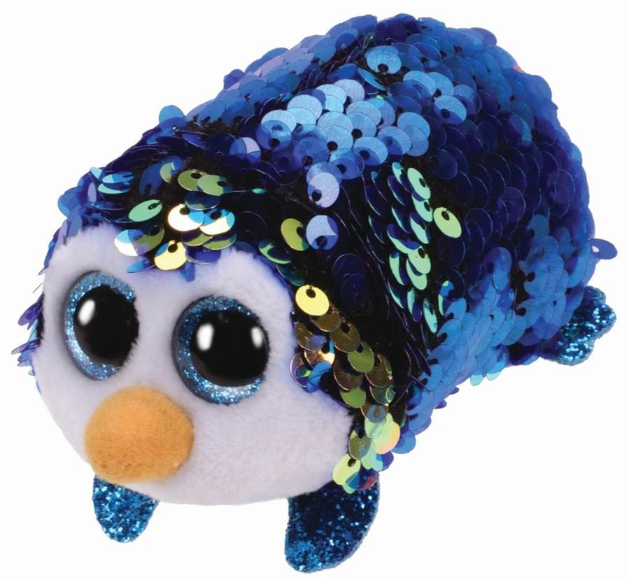 Plus Ty 10 cm Teeny Tys Payton pinguin albastru cu paiete