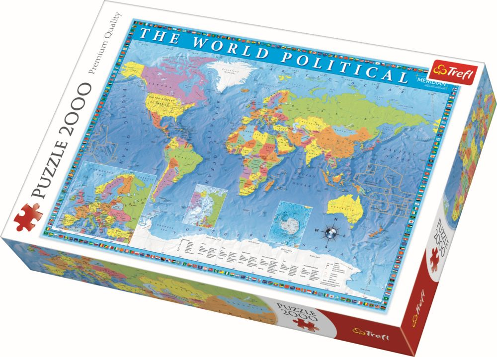 PUuzzle Trefl 2000 harta politica a lumii