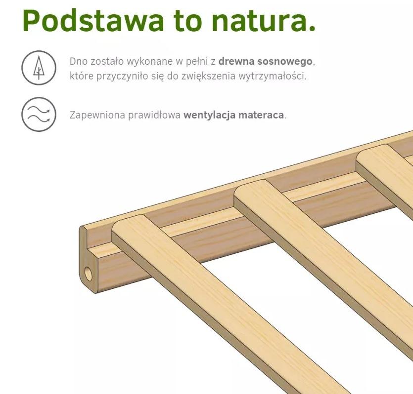 Patut din lemn de pin Radek II Natur