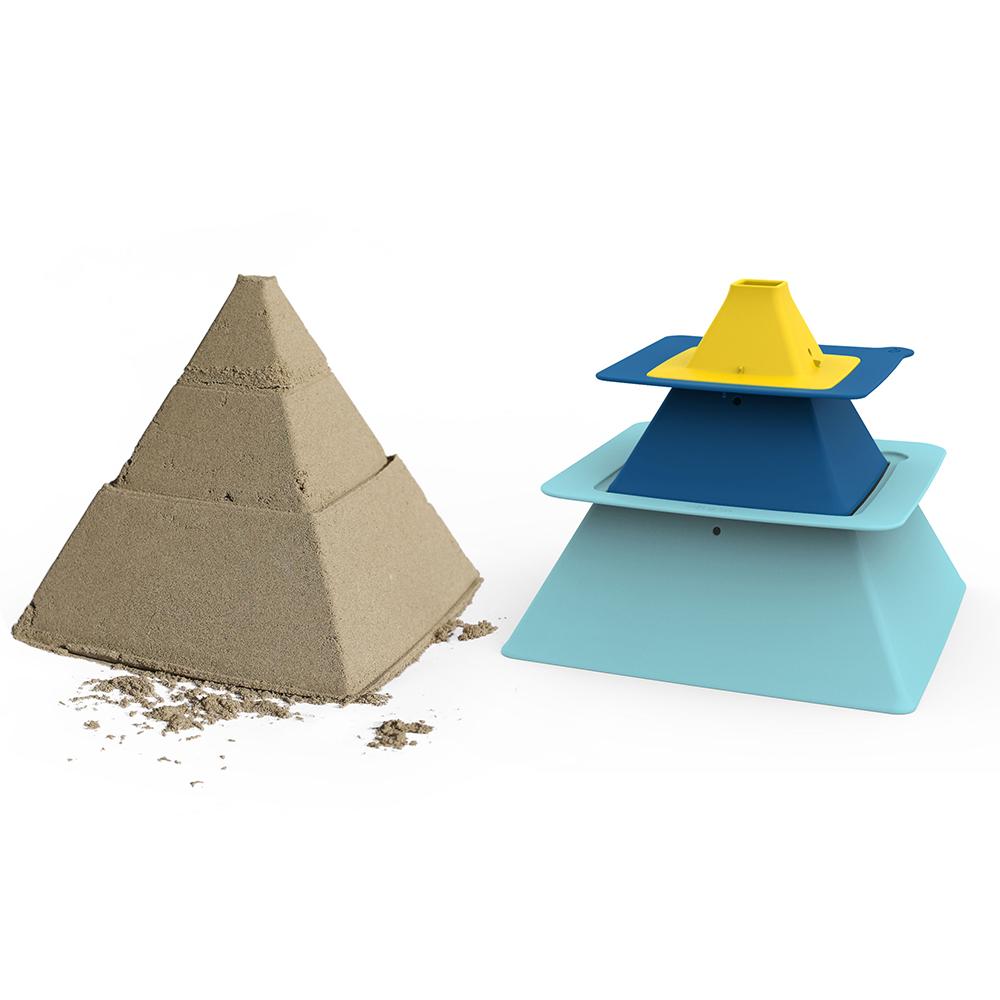 Forme de nisip albastru galben Pira