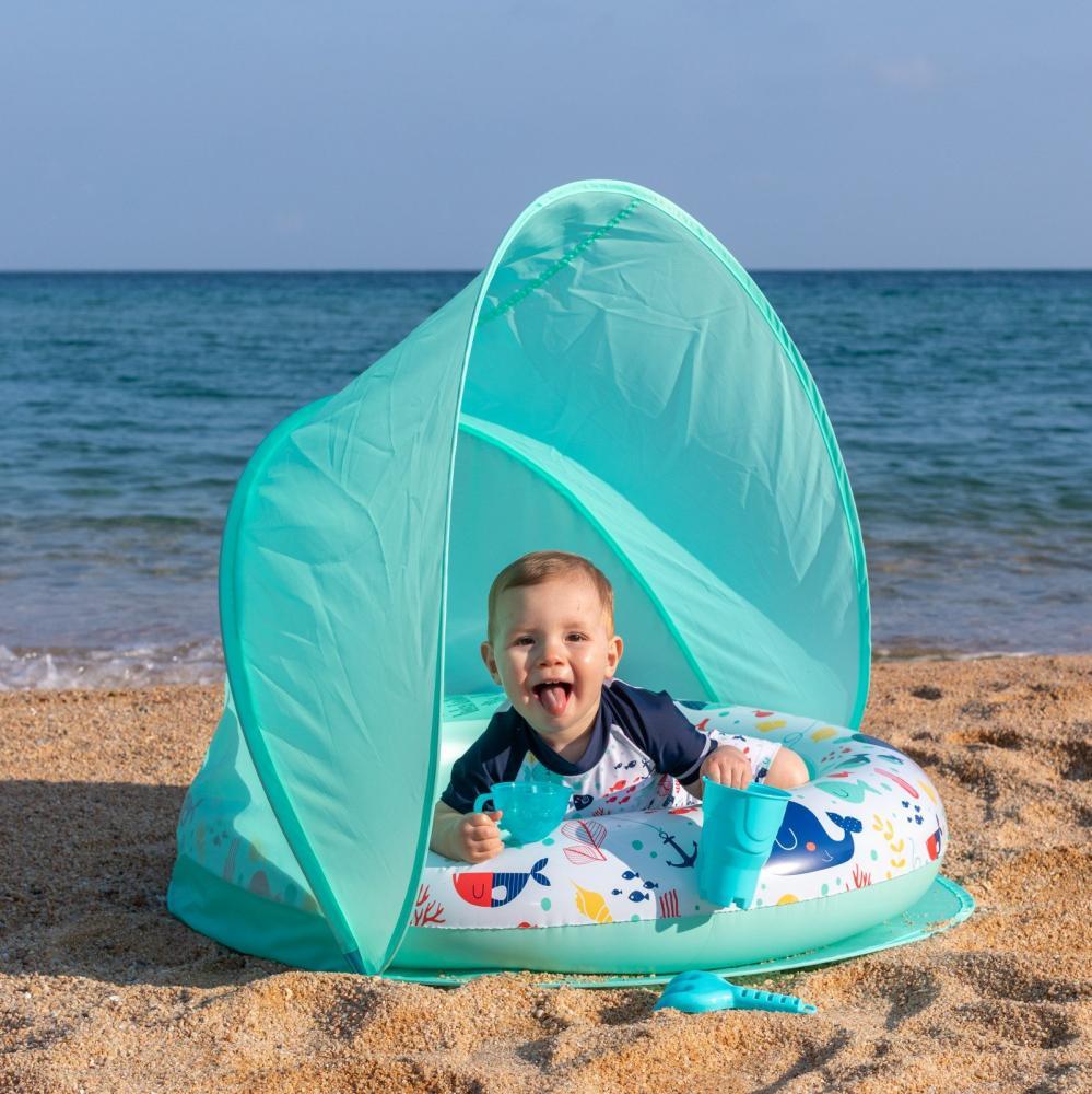 Piscina gonflabila cu parasolar pentru copii protectie UV 40+