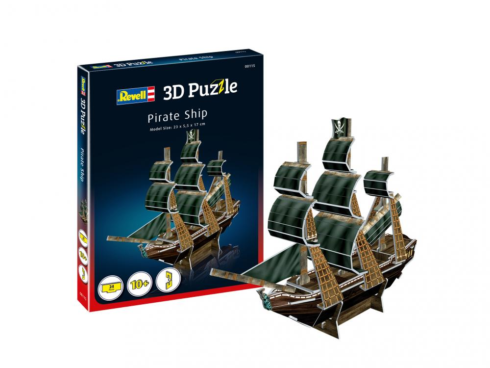 Mini puzzle 3D Corabia Piratilor Revell