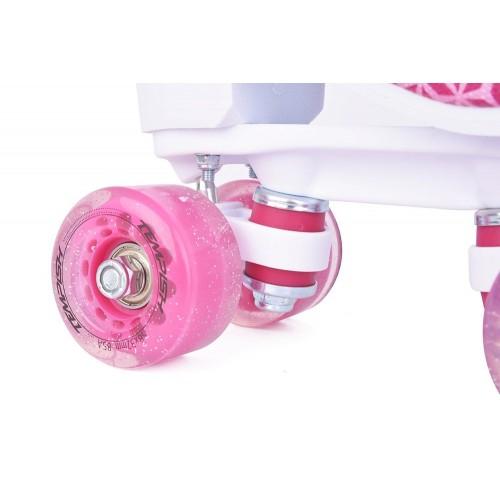 Role copii Quad roti poliuretan roz fete Tempish marime 34