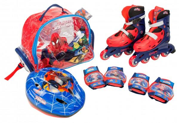 role copii saica reglabile 35-38 spiderman cu protectii si casca in ghiozdan - Role copii Saica reglabile 35 38 Spiderman cu protectii si casca in ghiozdan 235508 0 - Role copii Saica reglabile 35-38 Spiderman cu protectii si casca in ghiozdan