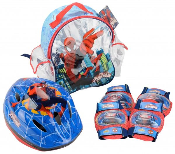 Set accesorii protectie pentru bicicleta role trotineta Spiderman imagine