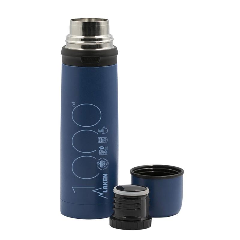 Termos inox Laken pentru lichide 1 L albastru imagine