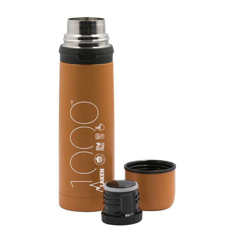 Termos inox Laken pentru lichide 1 L portocaliu imagine