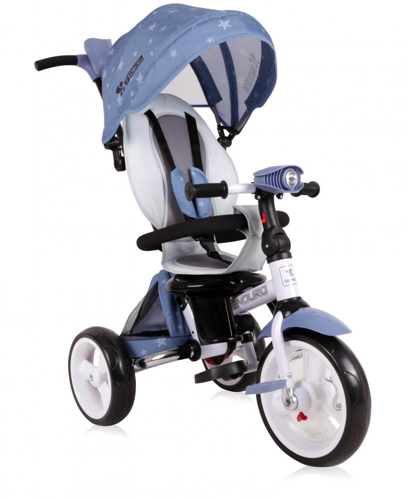 Tricicleta Multifunctionala 4 In 1 Enduro Cu Scaun Rotativ Grey Stars