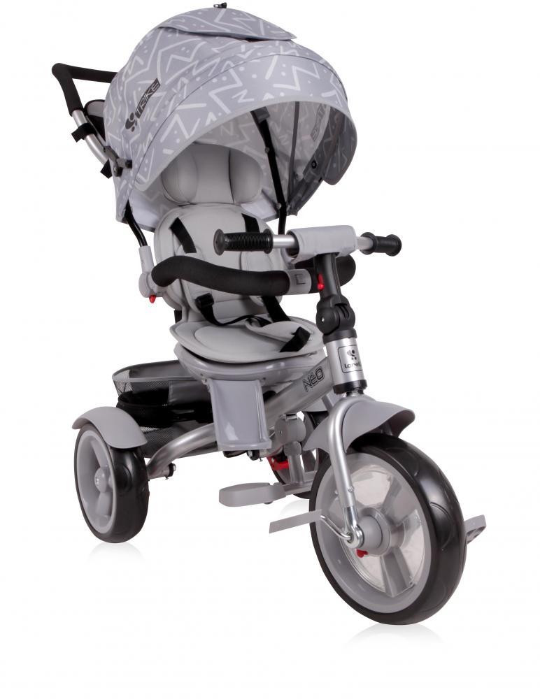 Tricicleta multifunctionala 4 in 1 Neo Light Dark Grey