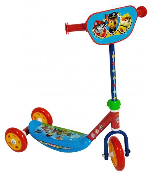 Saica Trotineta pentru copii cu 3 roti Saica Paw Patrol cu roti din silicon albastru cu rosu