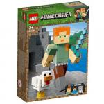 Lego Minecraft Alex BigFig cu Gain