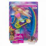 Papusa Barbie sirena cu lumini si sunete