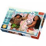 Puzzle Trefl 100 Vaiana cu prietenii