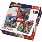 Set puzzle 3 in 1 Trefl Marvel Spider Man Forta paianjenului