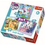 Set puzzle 3 in 1 Trefl My Little Pony Zilele vesele ale poneilor,