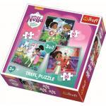 Puzzle Trefl 3 in 1 Printesa Cavaler
