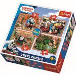 Puzzle Trefl 4 in 1 calatori in jurul lumii