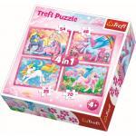 Puzzle Trefl 4 in 1 lumea minunata a unicornilor