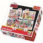 Puzzle Trefl 4 in 1 Minnie cu prietenii