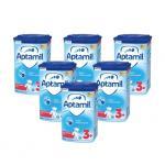 Pachet 6 x Lapte praf Nutricia Aptamil Junior 3+, 800g, 3ani+