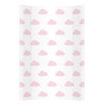 Saltea de infasat bebe cu intaritura 70x50 Clouds Pink 247