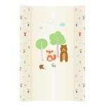 Saltea de infasat bebe cu intaritura 70x50 Forest Animals 007