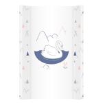 Saltea de infasat bebe cu intaritura 70x50 Swan Animals 009