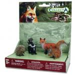 Set 4 figurine Animale din padure Collecta