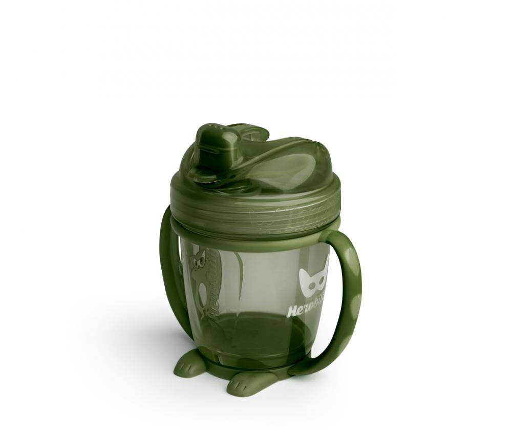 Canuta bebelusi HeroSippy 140 ml verde army din categoria Alimentatie de la Herobility