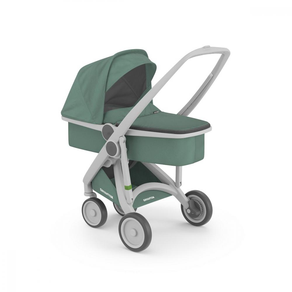 Carucior 2 In 1 100 Ecologic Grey Sage imagine