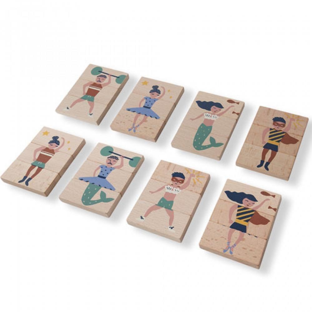 Cuburi de lemn Nobodinoz Meli Melo