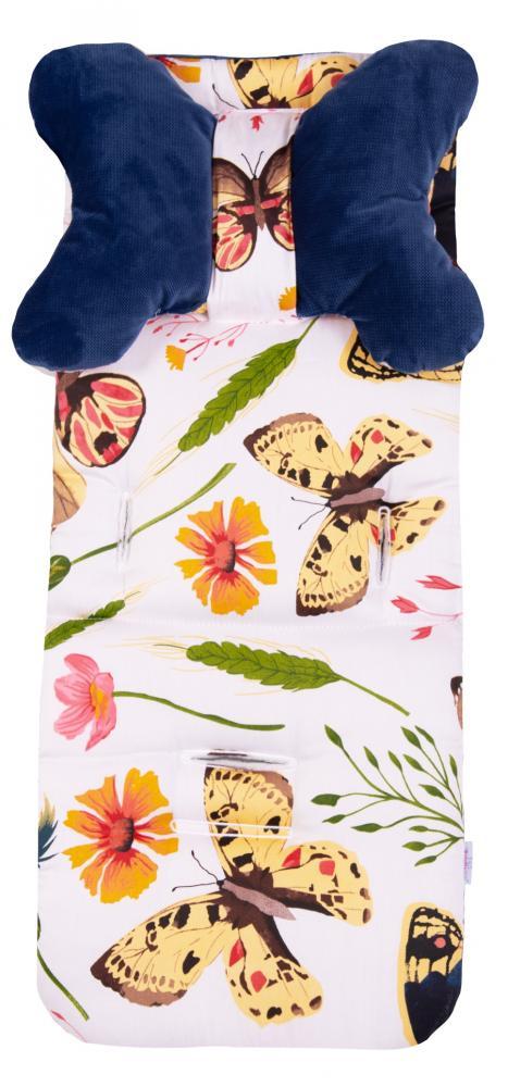 Husa carucior din spuma cu memorie si pernuta Iris Butterfly 02