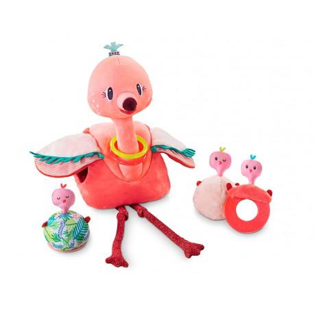 Jucarie de plus interactiva Anais flamingo roz
