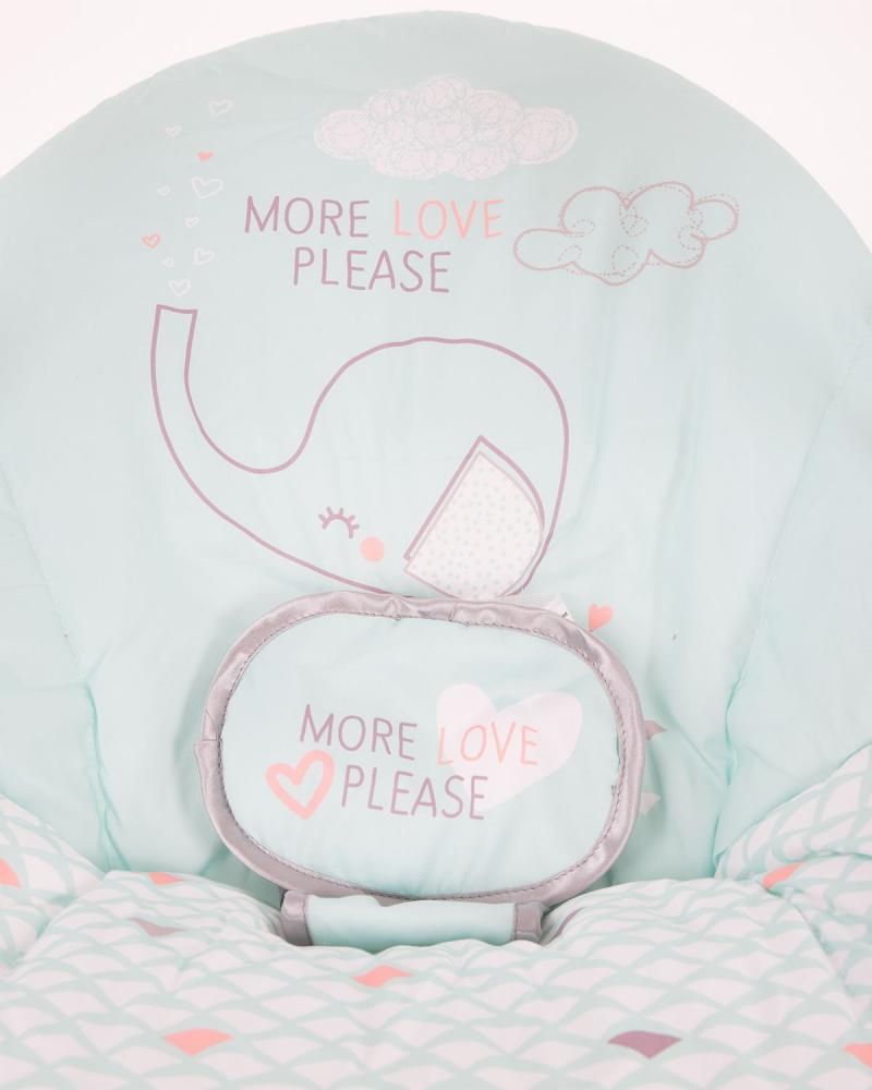 Leagan bebelusi cu conectare la priza Felice Mint Elephant
