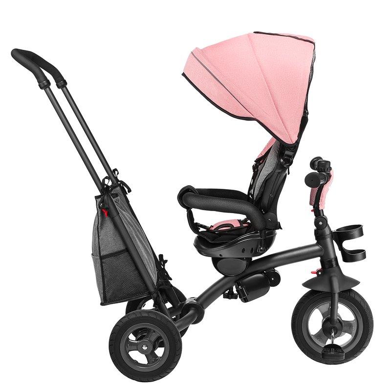 Tricicleta Multifunctionala Cu Sezut Reversibil Pliabila Tris Candy Rosegrey