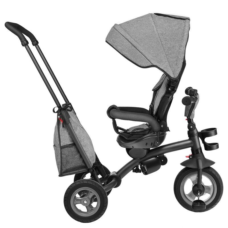 Tricicleta multifunctionala cu sezut reversibil pliabila Tris Stone Grey