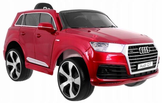 Masinuta electrica Audi Q7 cu scaun de piele si roti din cauciuc Red imagine