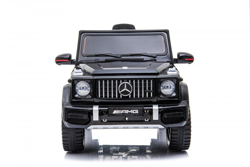 Masinuta electrica cu roti din cauciuc si scaun de piele Mercedes Benz G63 Black