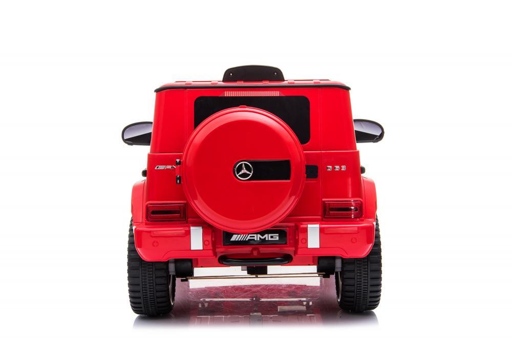 Masinuta electrica cu roti din cauciuc si scaun de piele Mercedes Benz G 63 Red