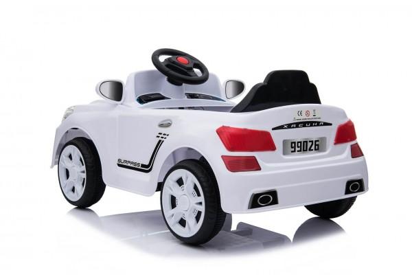 Masinuta electrica pentru copii Sportwagen C-Sport 6V alba cu telecomanda