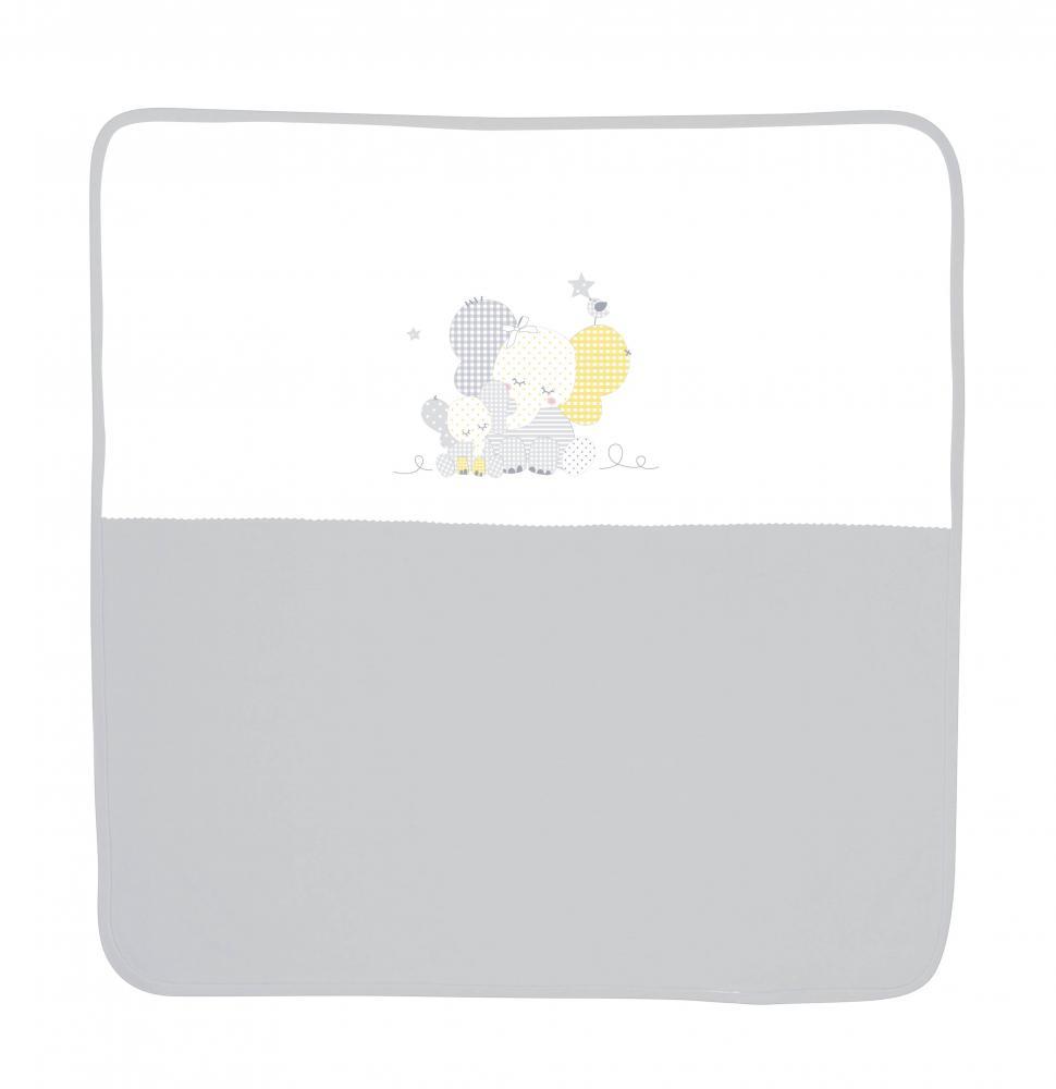 Patura bumbac bebe 90×90 cm Za Za Grey din categoria Camera copilului de la LORELLI
