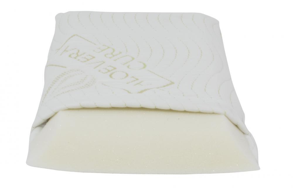 Perna pentru dormit din spuma cu memorie cu husa cu Aloe Vera