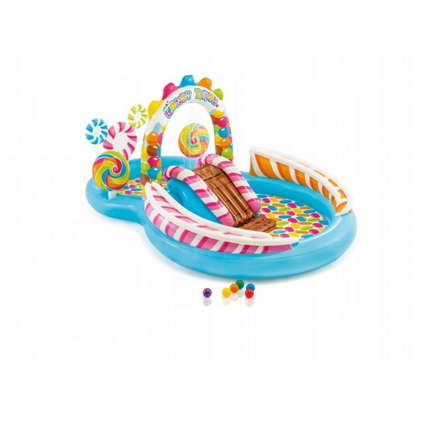 Piscina gonflabila pentru copii cu tobogan Candy Intex