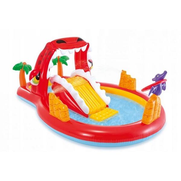 Piscina gonflabila pentru copii cu tobogan Red Dragon Intex
